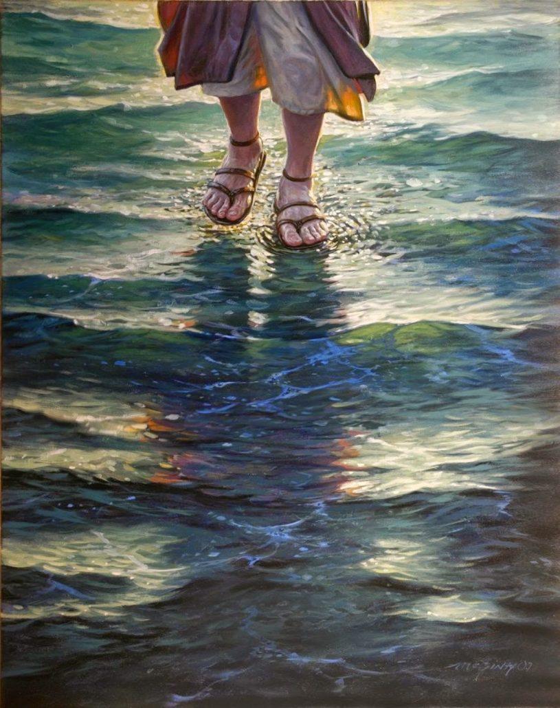 Jezus eina vandeniu