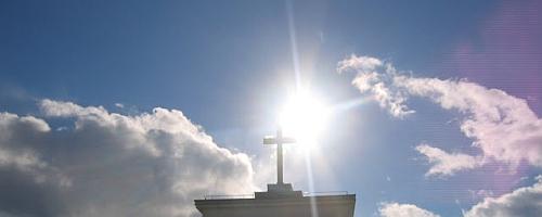 Kryžius, saulė, šviesa